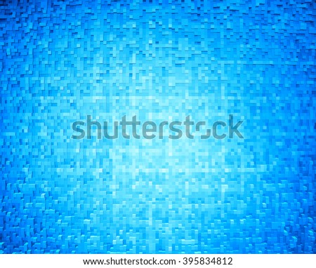 Horizontal cyan 3d cube extruded blocks abstract background - stock photo