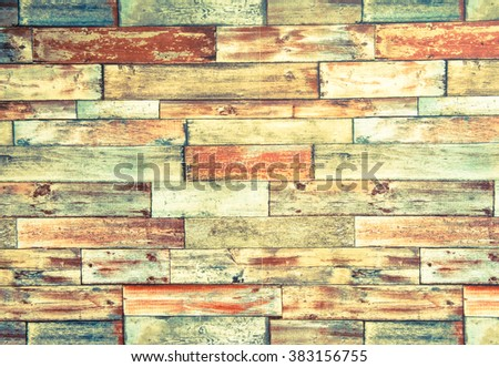 Horizontal Frame Psychedelic Colorful Brick Wall Stock Photo ...