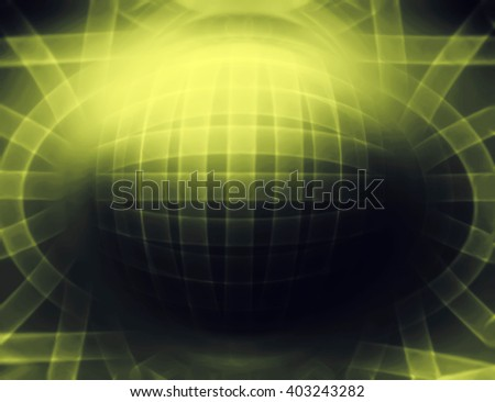 Horizontal olive 3d sphere abstract illustration background