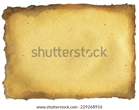 Horizontal paper sheet with torn edges texture - stock photo