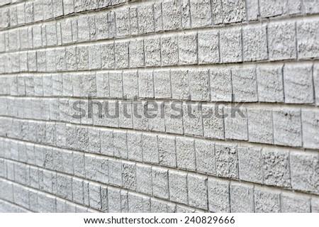 Horizontal Shot Of Angled Painted Brick Wall - stock photo