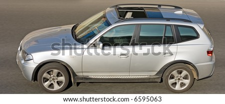 horizontal shot of german luxury SUV CAR - stock photo