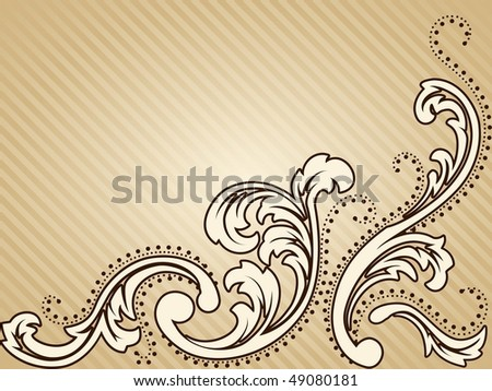 Horizontal vintage sepia background (JPG); vector version also available - stock photo