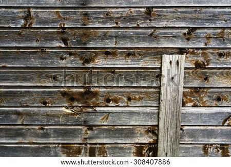 Horizontal vintage wood siding wall background composition