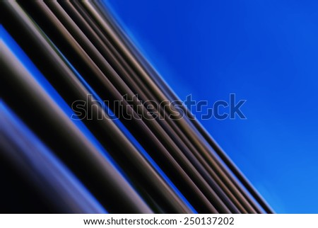 Horizontal vivid blue abstraction lines business background backdrop - stock photo