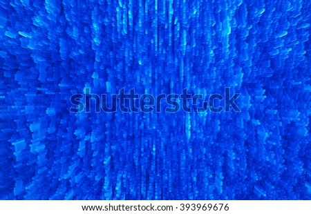 Horizontal vivid blur extruded 3d cubes abstract backdrop - stock photo
