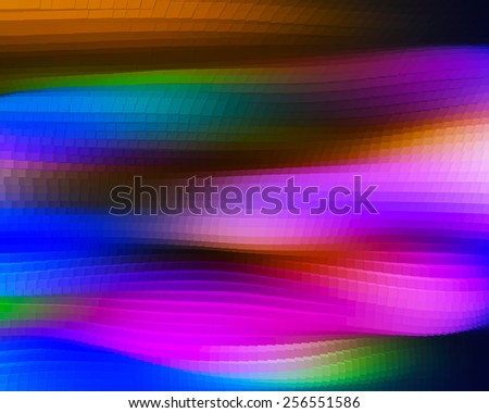 Horizontal vivid 3d extrude cubes waves business background backdrop - stock photo
