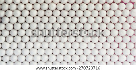 Horizontal  vivid white ball spheres business medicine abstraction background backdrop - stock photo