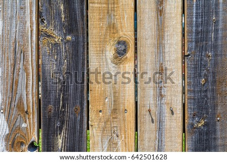 Horizontal Weathered Many Colored Wooden Fence Stock Photo Edit Now