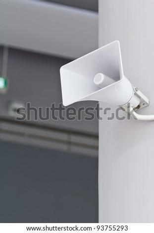 Horn Speaker - stock photo