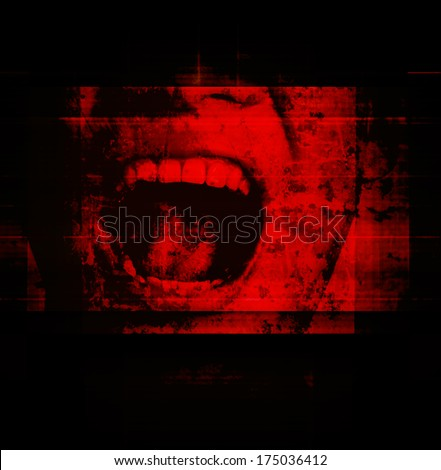 Horror Background For Movies Poster Project - stock photo