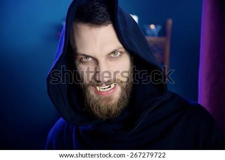 Horror vampire angry hungry - stock photo