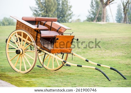 Horse Carriage separated,Horse carts - stock photo