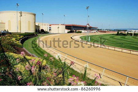 Horse Race Track in West Virginia, USA - stock photo