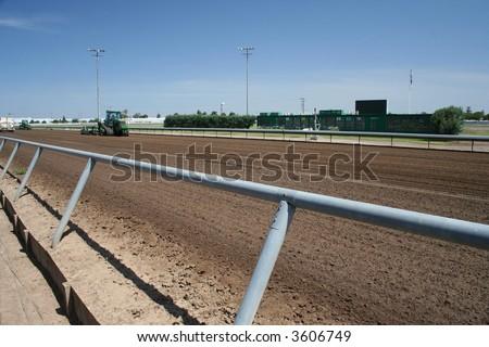 horse racetrack - stock photo