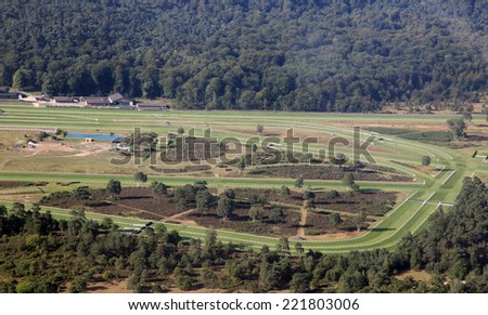 horse racetrack in Fontainebleau, france - stock photo
