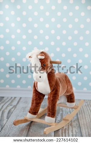 horse - rocking chair - stock photo