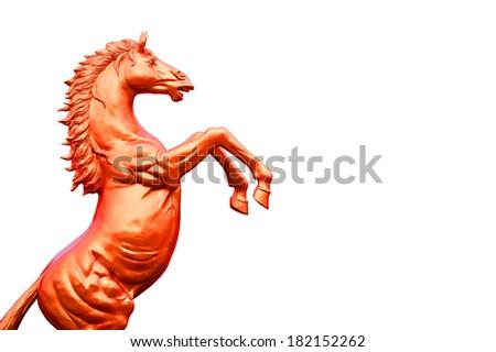Horse Statue isolate - stock photo
