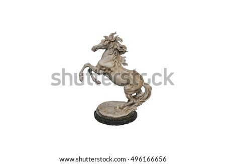 Horse statue isolated