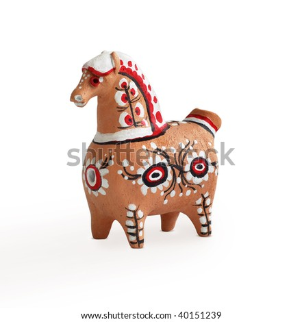 horse toy - stock photo