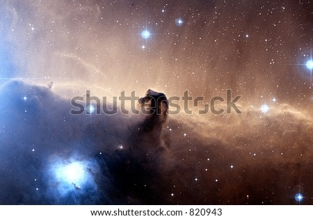 Horsehead Nebula file contains grain - stock photo
