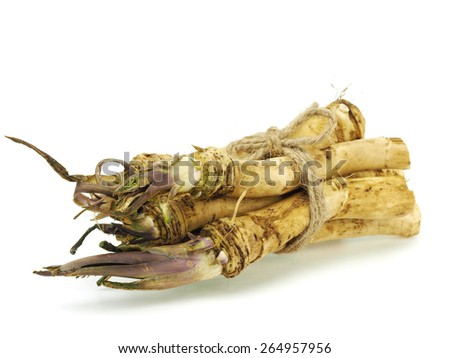 Horseradish on a white background       - stock photo