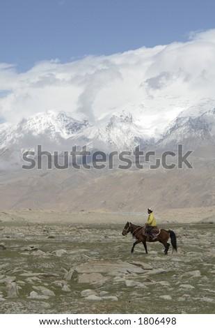 Horserider. China. - stock photo