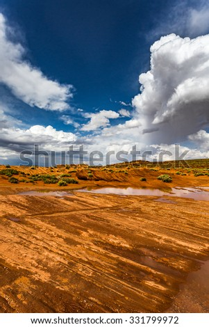 HorseShoe Bend Arizona Panorama - stock photo