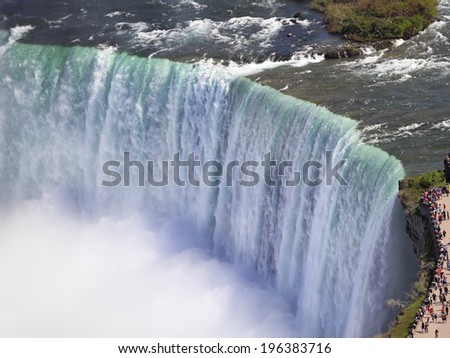 Horseshoe Falls zoom, Niagara - stock photo
