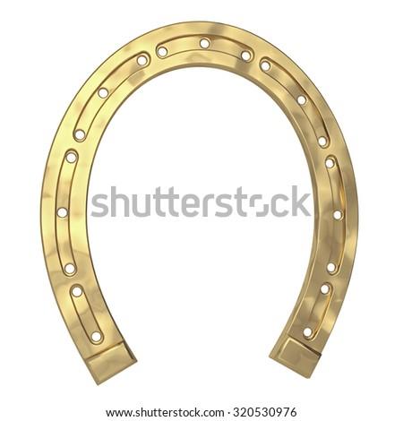horseshoe on a white background - stock photo
