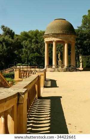 Horta Labyrinth. Baroque era. Rococo Style Park. Barcelona. Catalonia. Spain - stock photo