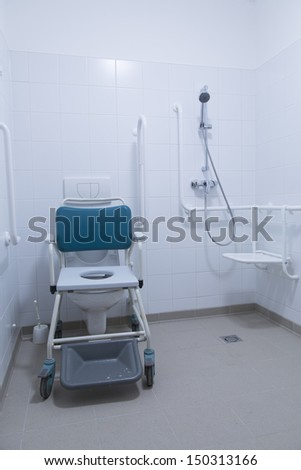 hospital bathroom for disabled people  - stock photo