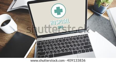 Hospital Clinic Health Institution Medicine Care Concept - stock photo