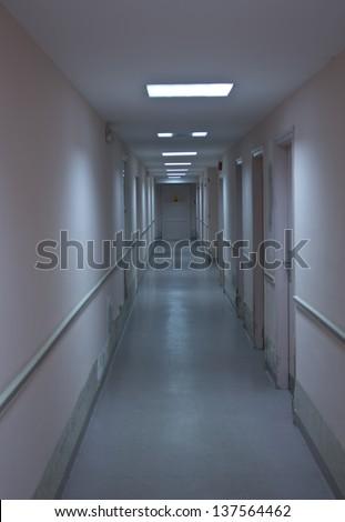hospital corridor - stock photo