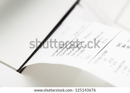 Hospital form. Listing. - stock photo