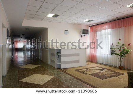 hospital hall - stock photo