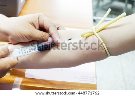 Hospital patient blood samples for diagnosis