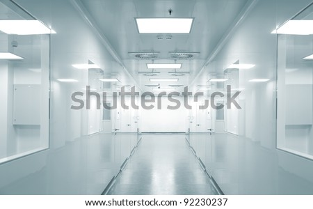 Hospital research lab - stock photo