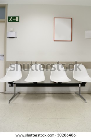 Hospital waiting room?s picture from Spain, Europe. - stock photo