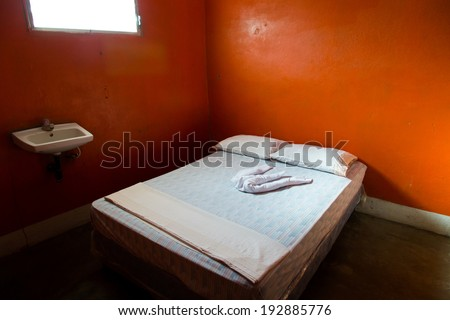 hostel room - stock photo