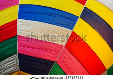 Hot air balloon color patches background - stock photo