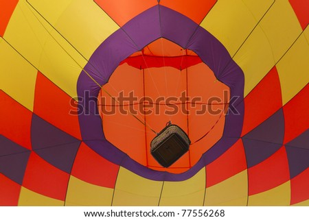 hot air balloon from below - stock photo