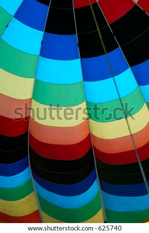 hot air balloon from inside - stock photo