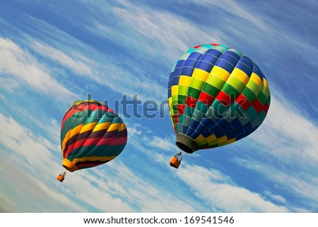 Hot Air balloon in New Jersey Balloon Festival  - stock photo