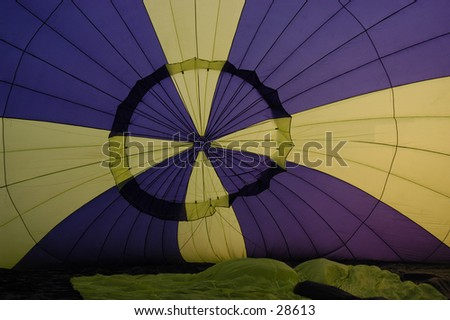 Hot Air Balloon Interior - stock photo