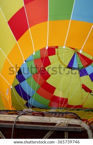 Hot Air Balloon Interior - stock photo