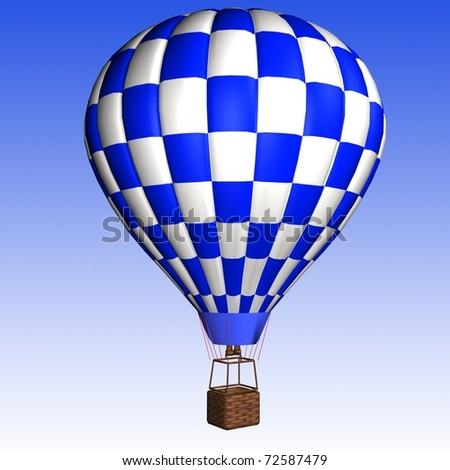 hot air balloon isolated - stock photo