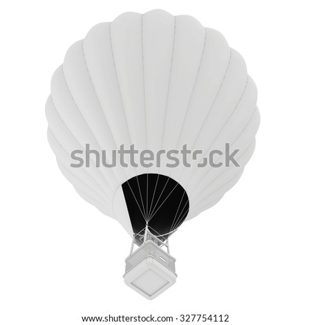 Hot Air Balloon. isolated on white background.