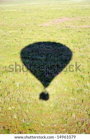 Hot air balloon. Shadow - stock photo