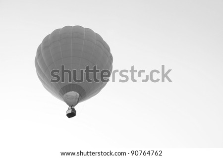 hot air balloon with beautiful blue sky - stock photo